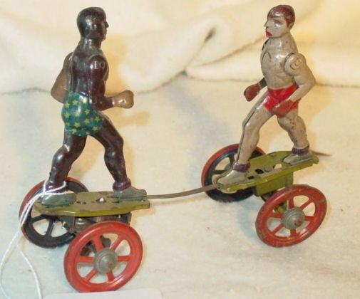 173: Jack Johnson Gene Tunney boxing wind up toy