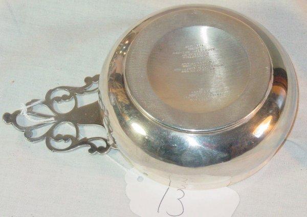 13: Tiffany & Co sterling silver porringer