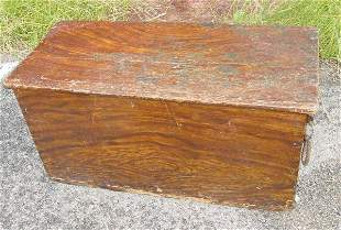 Paint decorated early 19th c. sea chest