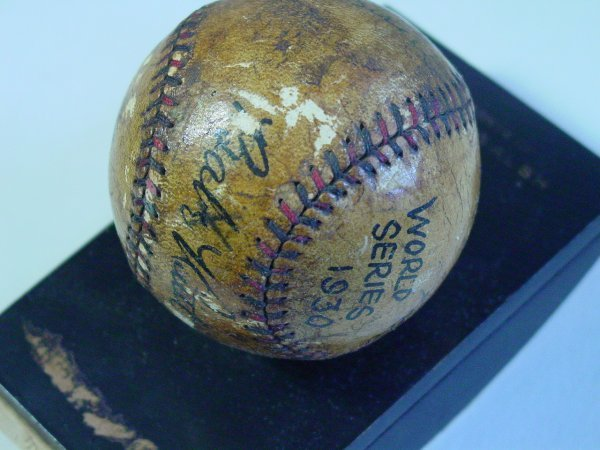38: Authenticated Babe Ruth 1930 Worlds Series baseball