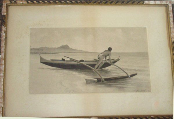 51: Hawaii mixed media painting by JD Strong, 1886,