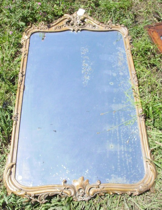 1014: antique Continental mirror
