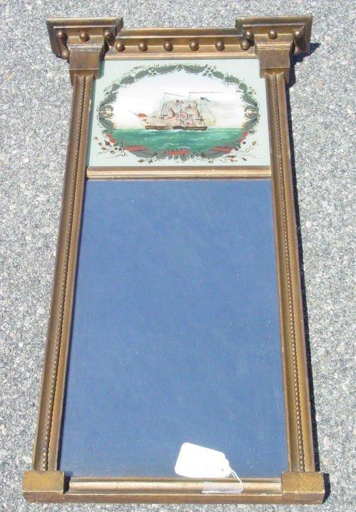 1015: Antique Sheraton mirror