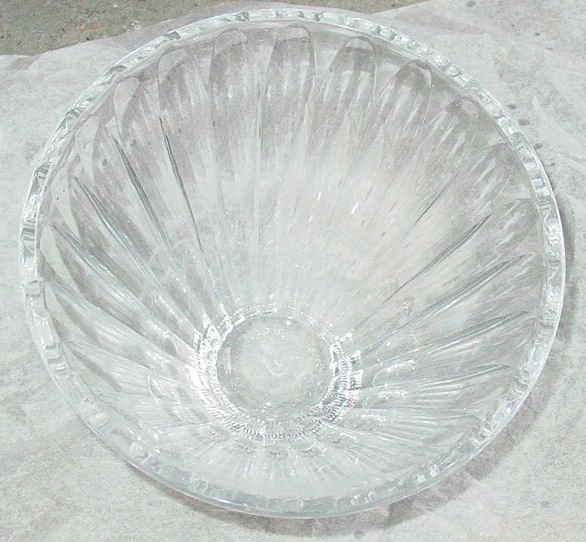 1016: Signed Libbey crystal bowl