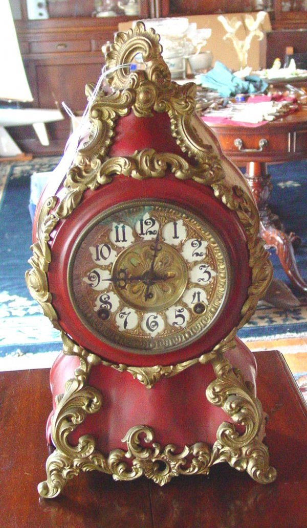 1021: French late 19th c. mantel clock
