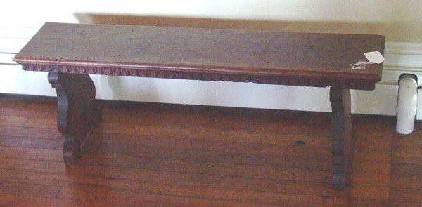 1023: Italian walnut bench