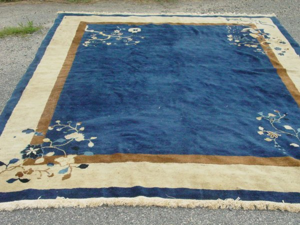 1125: Peking blue & white oriental rug