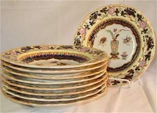 19th c. Mason's Ironstone soup bowls Imari pattern