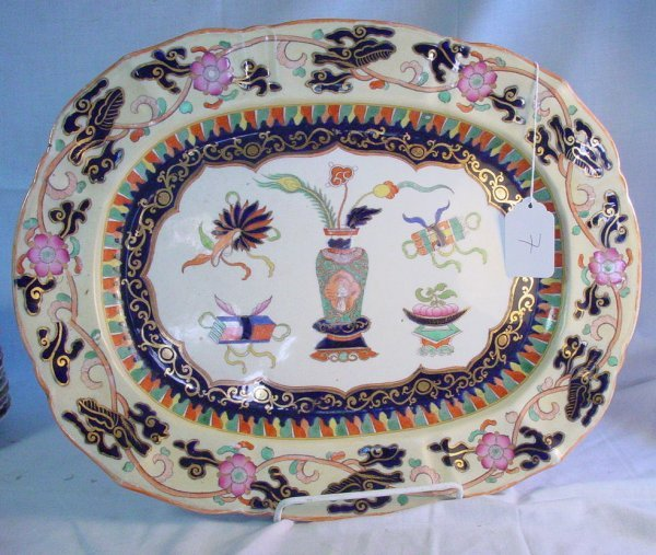 7: 19th c. Large Mason's Ironstone platter
