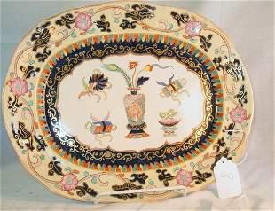19th c. Mason's Ironstone platter, Oriental pattern