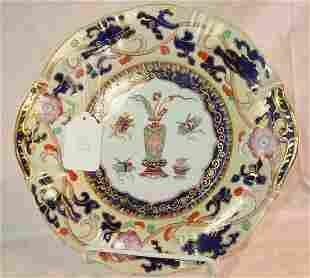 19th c. Mason's Ironstone round platter, Oriental p