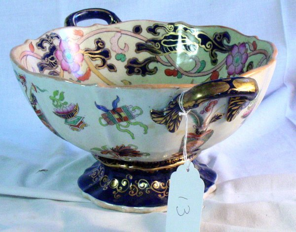 13: 19th c. Mason's ironstone tureen Oriental pattern #