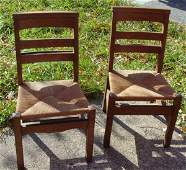 21: pair of Mission Oak side chairs