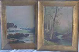 27 Pair DA Fisher oil paintings on canvas
