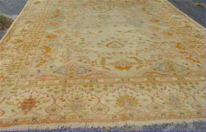 50: Antique Oushak Oriental rug, 12' x 14'