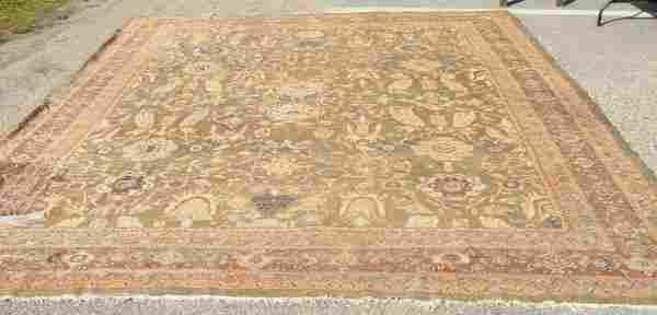53: Antique Zeigler Mahal Oriental rug, 11' x 15',