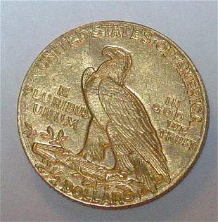 1910 US gold $2 1/2 gold coin