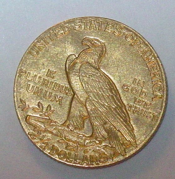 1E: 1910 US gold $2 1/2 gold coin
