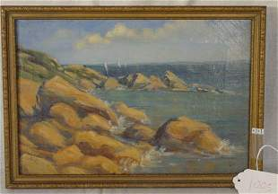seashore oil on canvas painting
