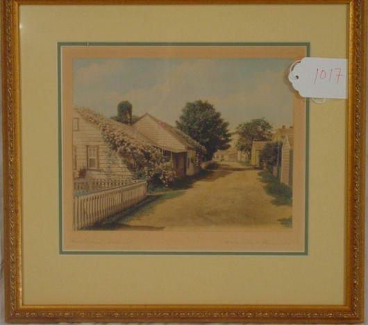 1017: Nantucket colored photo