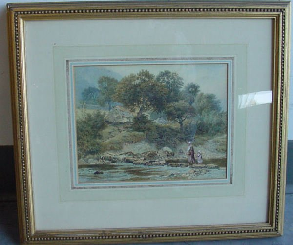 1145: important 19th c. watercolor