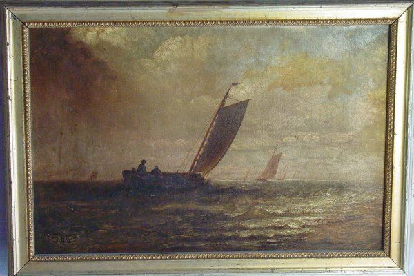 CH Gifford oil on canvas painting
