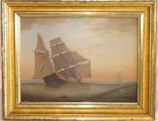 103: Mid 19th c. luminous painting school of FH Lane