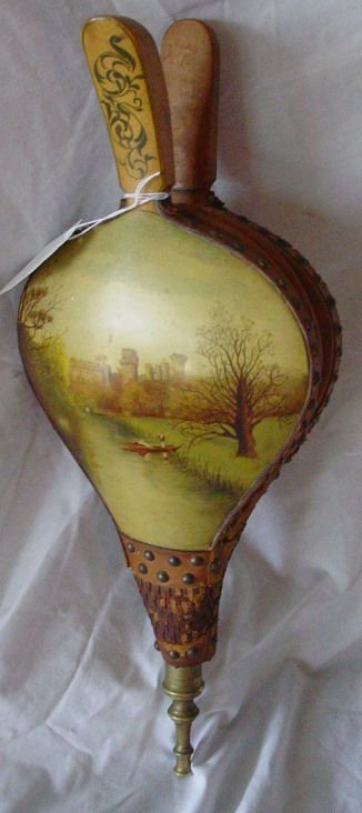 1: hand decorated 19th c. bellows