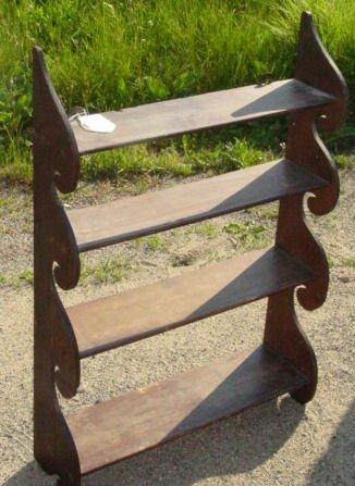 4: antique mahogany wave shelf