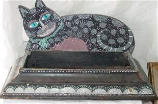 Rosebee folk art cat
