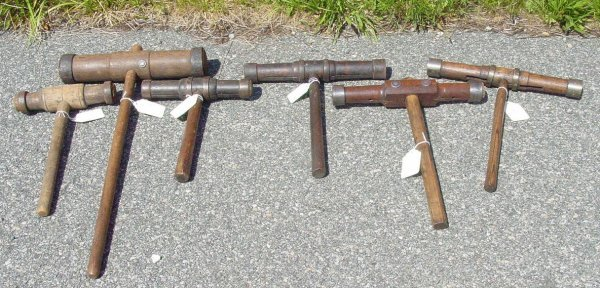 9: lot 6 19th c. shipswright mallets