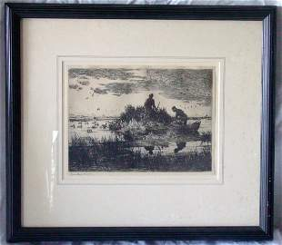 Frank W. Benson etching