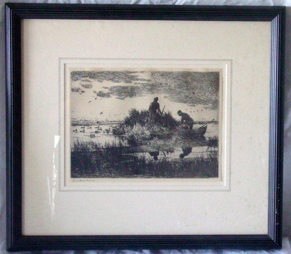 10: Frank W. Benson etching