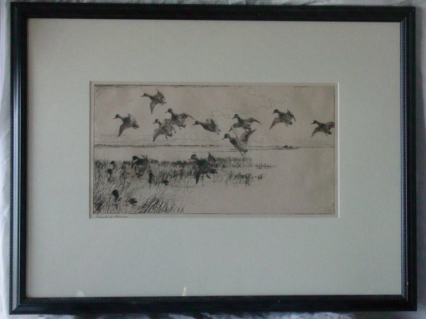 11: Frank W. Benson etching