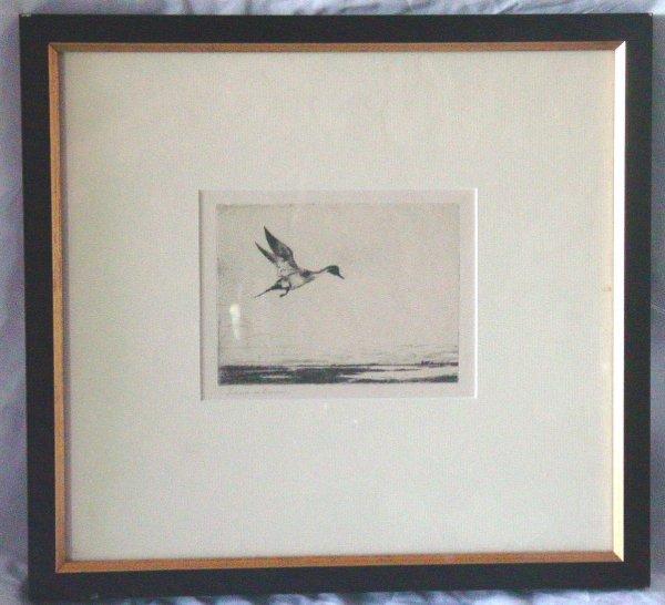12: Frank W. Benson etching
