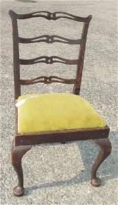 69: rare period Queen Anne side chair