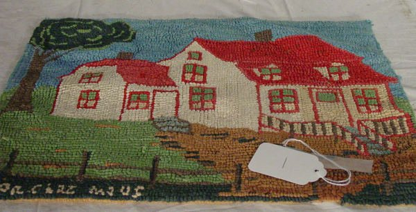 1: small hand hooked rug