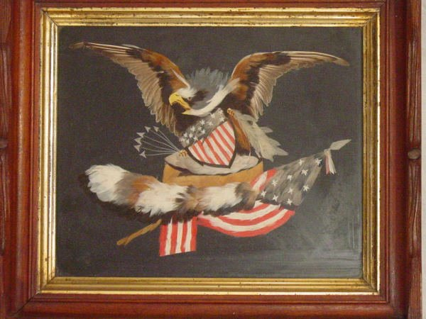 5: feather art American eagle