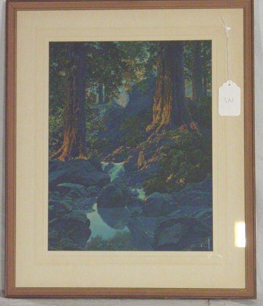 7: Maxfield Parrish print