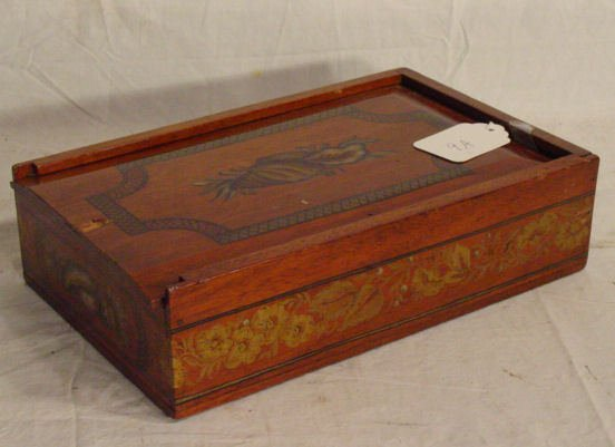 9A: paint decorated spice box