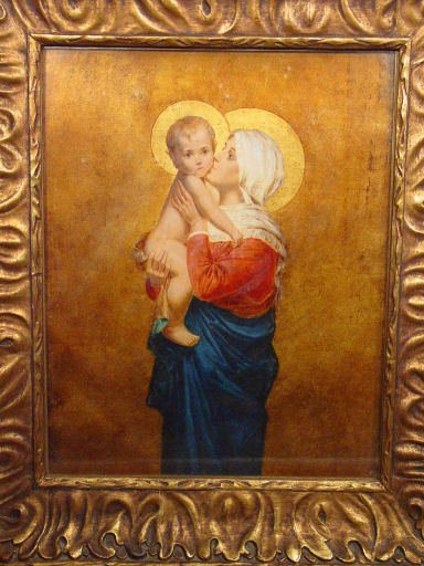 12:German painting of Madonna and child