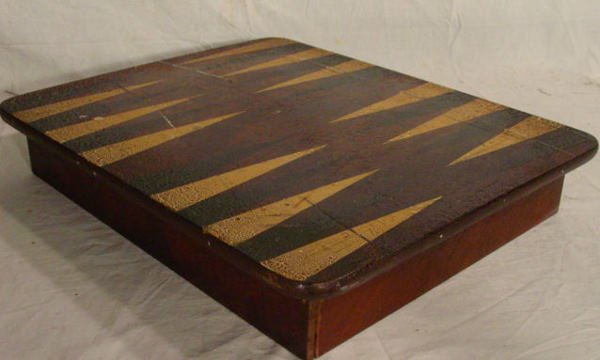 20: Antique folk art game box