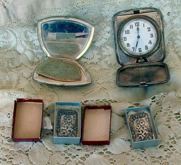 1: Sterling travel clock , compact, tokens
