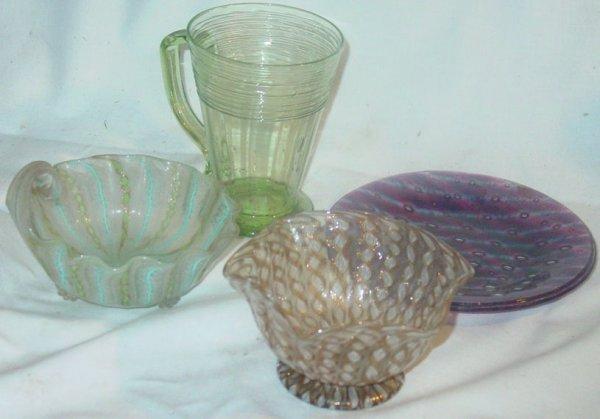 5: 4 pieces Venetian glass