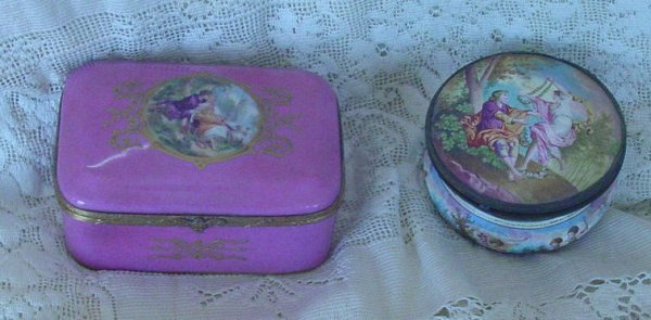 8: two antique dresser - jewelry boxes