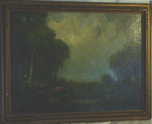 84: George Inness oil painting