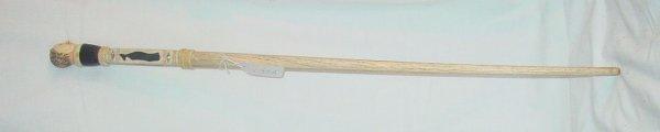 132A: 19th c. bone and ivory cane