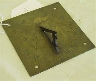 18th c bronze sundial