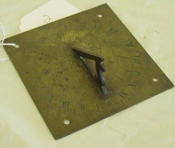 2: 18th c bronze sundial
