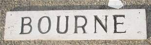 19th c. town of Bourne MA sign